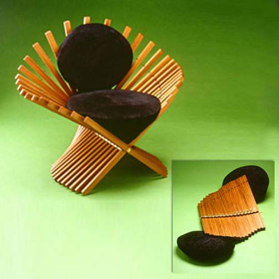 fan chair style folding chair