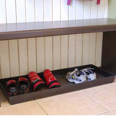 mudroom bench shoe storage plans