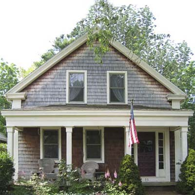 outdated greek revival farmhouse