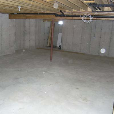 bare unfinished basement