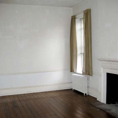 bare room with wooden floor