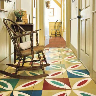1. Paint a Colorful Patchwork Floor | 15 Decorative Paint Ideas