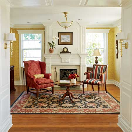 greek revival remodel with detailed woodwork