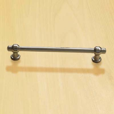 bar pull with a polished nickel finish for cabinets and drawers
