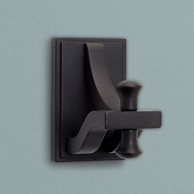 an iron bath hook from Design House with a bronze finish