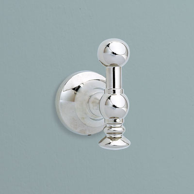 an Art Nouveau-style bath hook from Restoration Hardware with polished nickel finish