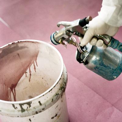 paint sprayer and bucket