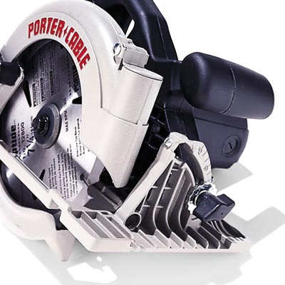 porter cable circular saw with cast metal shoe