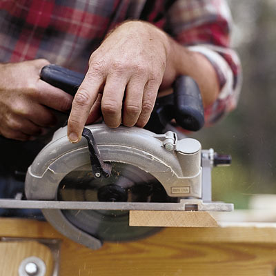 beveling with a circular saw