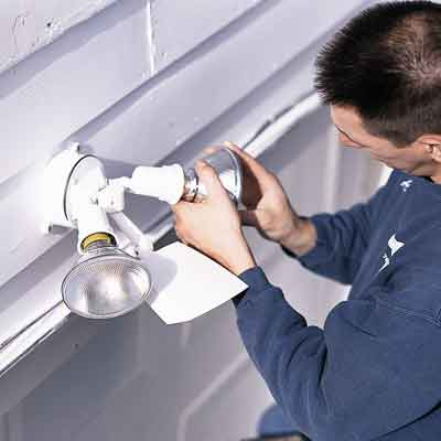 Install a Garage Floodlight