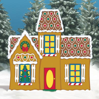 gingerbread manor kit for wood Christmas lawn decoration