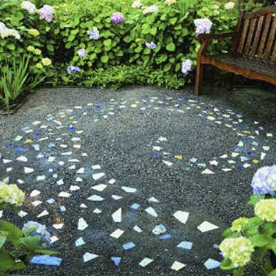 Galaxy swirls 8 great patterns for a pebble mosaic this old house - Basics mosaic tiles patios ...