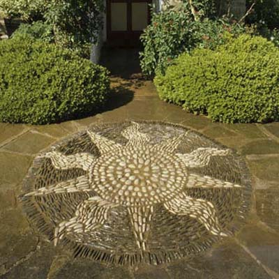 a cheery sun mosaic design