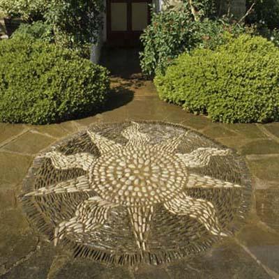 a cheery sun mosaic design