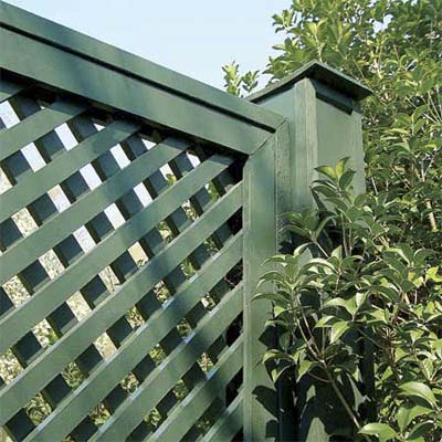 example of a lattice fence
