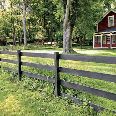 example of a post and rail fence