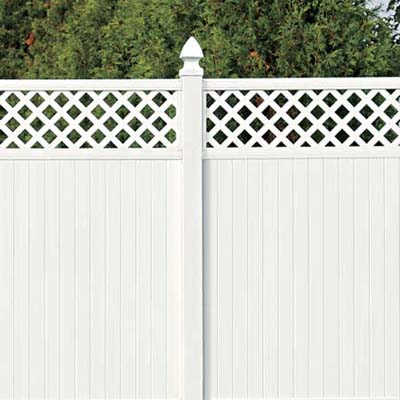 example of a fence built with vinyl