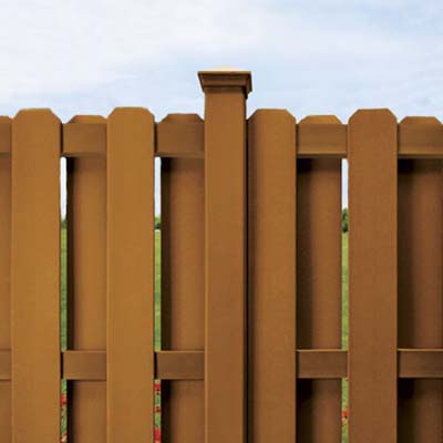 example of a fence built with wood composite