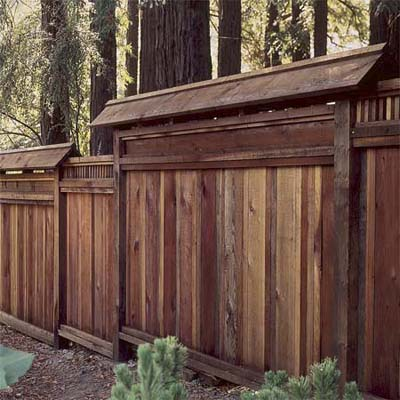 example of a privacy fence design