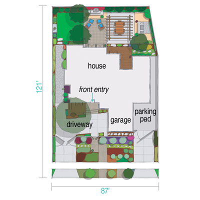 diagram of outdoor living space
