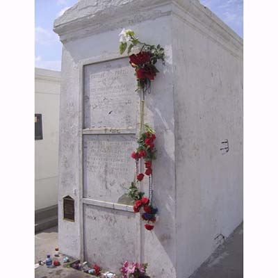 This well-visited tomb in New Orleans is thought to be that of voodoo queen Mary Laveau