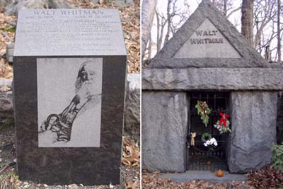 Walt Whitman tomb at Harleigh Cemetery, Camden, NJ