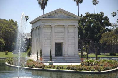 Valentino Mausoleum at Hollywood Forever Cemetery, Hollywood, CA