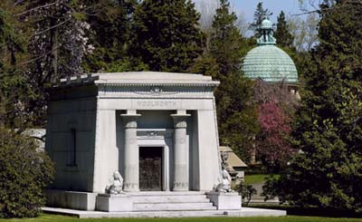 Woolwoth Mausoleum at Woodlawn Cemetery
