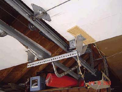 home inspection photo of garage door opener