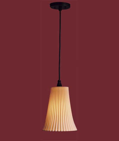 pendant lighting - pleated porcelain