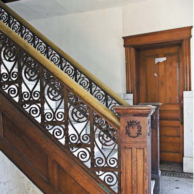iron staircase to be salvaged