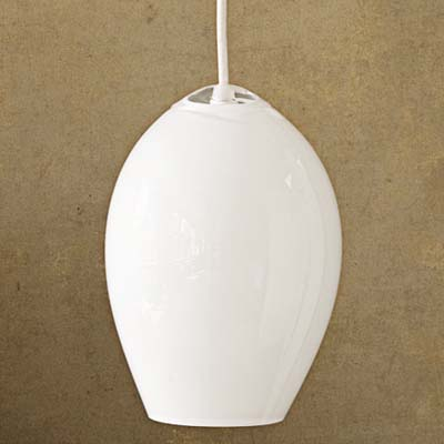 including hand-blown glass and hand-brushed aluminum Dome pendant light from jGoodDesign