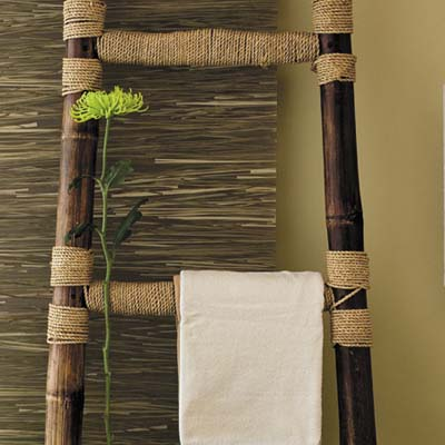 bamboo display ladder