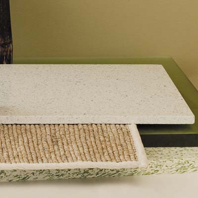 terrazzo made with up to 90 percent postindustrial and consumer-recycled content