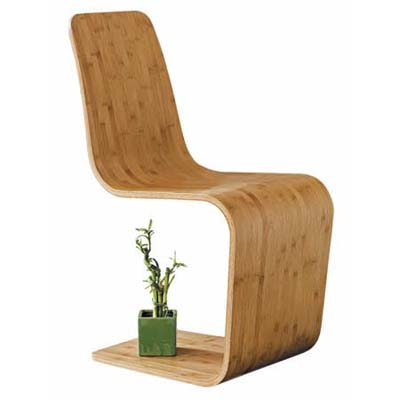 Engineered from a nine-ply laminated sheet of fast-growing, quickly replenished bamboo, the sinuous, molded Spring chair