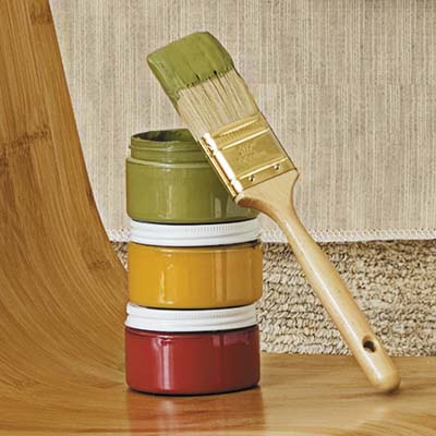 Green Planet Paints' zero-VOC matte interior clay paints