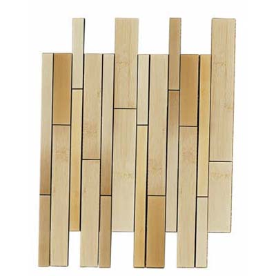 Walker Zanger's first-of-its-kind Sobu collection bamboo mosaic tile