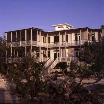 exterior of Key Largo eco-friendly house
