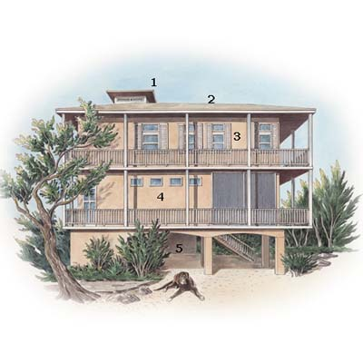 illustration of Key Largo eco-friendly house