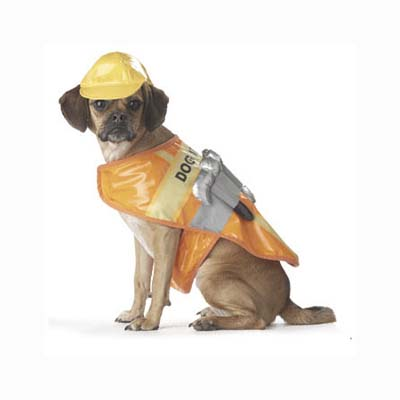 construction worker dog halloween costume