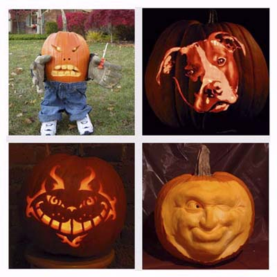 Pumpkin carvings by professional carvers