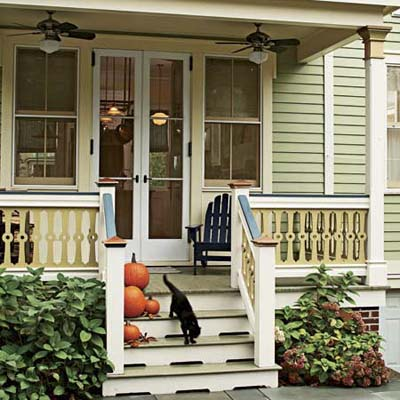 side porch of renovated Victorian kitchen