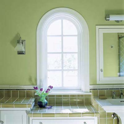 Guest bath 39 s arched windows small fixes big payoff - Houses with arched windows ...