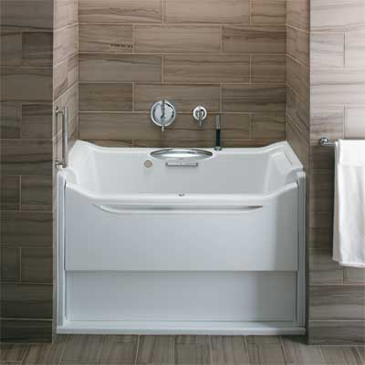 universal design walk-in tub found at the 2011 International Builder's Show