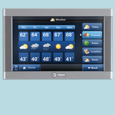 wireless touch screen thermostat found at the 2011 International Builder's Show