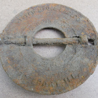 Engine part found at the Titlow family home in Bedford, Massachusetts
