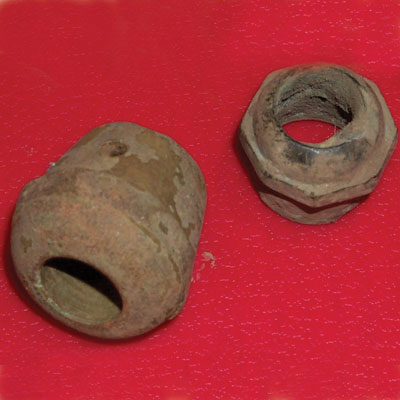 Ox knobs found at the Titlow family home in Bedford, Massachusetts