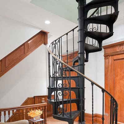 New York Brownstone spiral staircase from best homes from toh tv by kevin o'connor