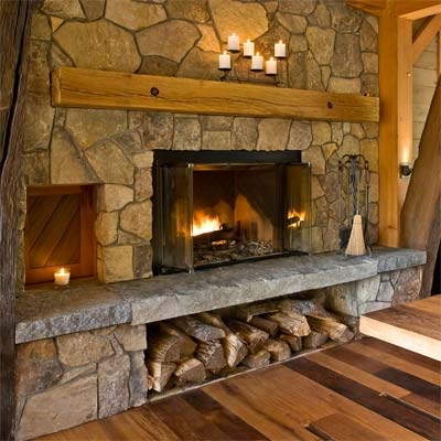 Weston Timber Frame hearth from best toh homes book tv by kevin o'connor