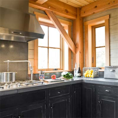 Weston Timber Frame industrial meets rustic kitchen from best homes from toh tv by kevin o'connor